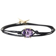 White Gold and Amethyst Bracelet