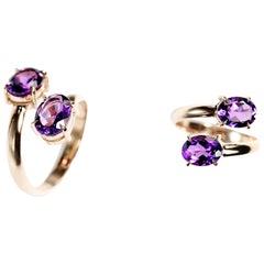 RING 18 Karat White Gold Ring with 2.31 Carat Amethyst