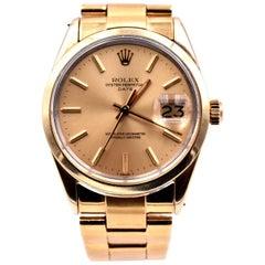 Rolex 18 Karat Yellow Gold Capped Date Watch Ref. 6021157