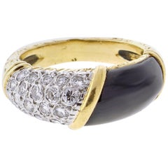 Van Cleef & Arpels Black Diamond and Onyx Band Ring