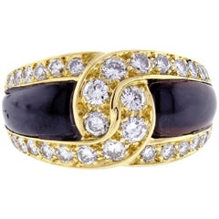 Van Cleef & Arpels Black Onyx and Diamond Ring