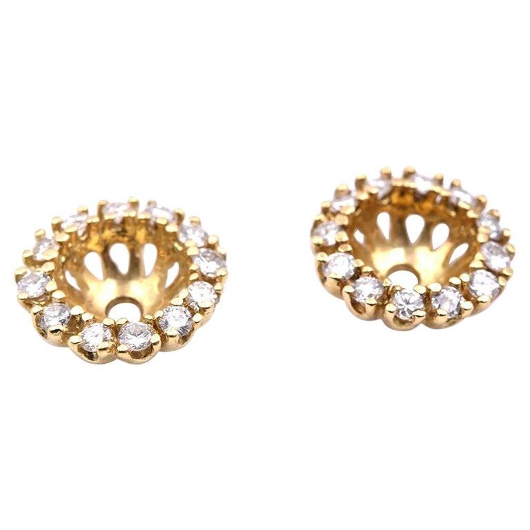 14 Karat Yellow Gold Diamond Jackets For Sale