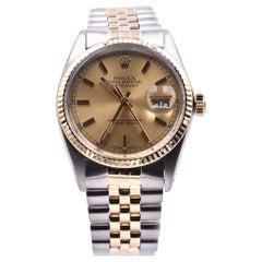 Rolex Stainless Steel/18 Karat Yellow Gold Datejust Watch Ref. 16013