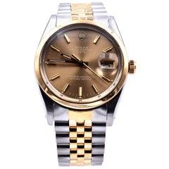Rolex Datejust Two-Tone 18 Karat Yellow Gold Watch Ref. 15203