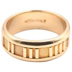 Tiffany & Co. 18 Karat Yellow Gold Atlas Ring