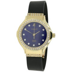 Hublot Watch, Ladies 18 Karat Yellow Gold with Diamonds