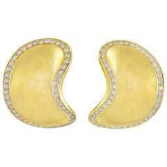 Angela Cummings Diamond Gold Ear Clips