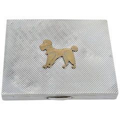 French Sterling and Gold Poodle Case