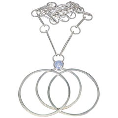 Swedish Sterling Silver Åke Bergman Stockholm 1963 Pendant Necklace