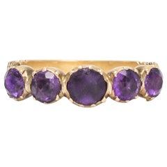 Antique Georgian Purple Paste Half-Hoop Ring