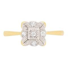 Edwardian 8-Cut Diamond Cluster Ring, circa 1910
