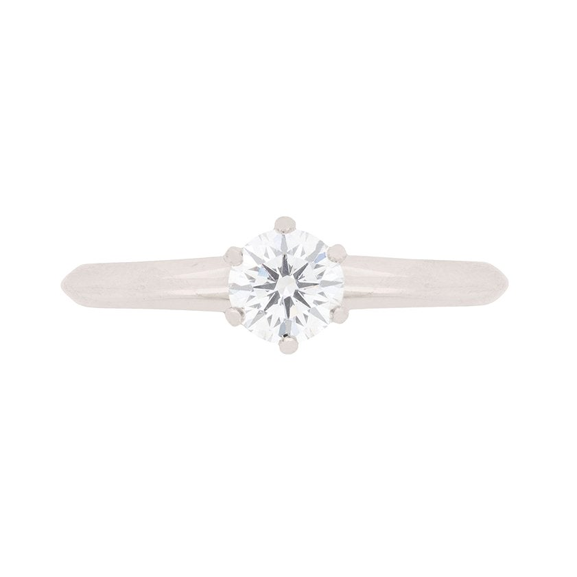 Tiffany & Co 0.42 Carat Diamond Solitaire Engagement Ring