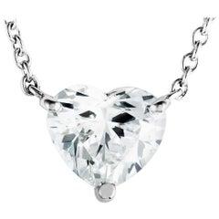Graff Heart Diamond Platinum Pendant Necklace
