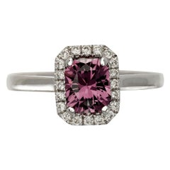 Liv 1 Carat Violet Pink Spinel Engagement Ring With Diamonds 0.16 Carat