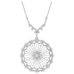 Garrard Bridal 'Starlight' 18 Karat White Gold White Diamond Necklace