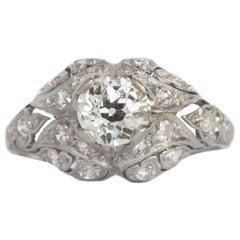 .73 Carat Diamond Platinum Engagement Ring