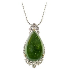 Tourmaline Diamond Pendant