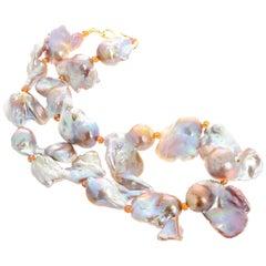 Unique Glorious Baroque Pearl Necklace
