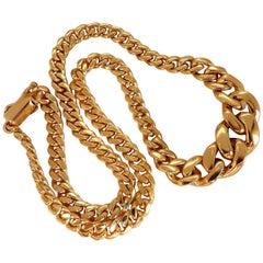 .40 Carat Diamonds Miami Reversible Cuban Link Necklace 14 Karat