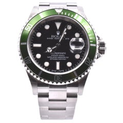 "Rolex Submariner Stainless Steel ""Kermit"" Men's Watch Ref. 16610T"