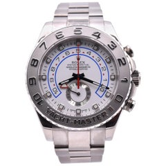 Rolex Yacht-Master II White Dial White Gold Watch Ref. 116689