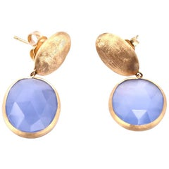 Marco Bicego 18 Karat Yellow Gold Chalcedony Drop Earrings