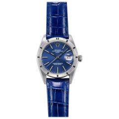 Rolex Stainless Steel Oyster Perpetual Blue Dial Automatic Wristwatch, 1970s
