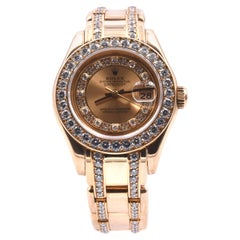 Rolex Masterpiece Diamond 18 Karat Yellow Gold Ladies Watch 69298