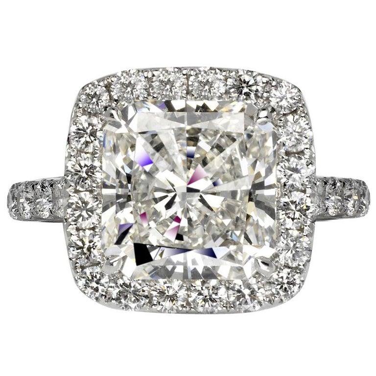 d8a330c3a4969 Ava 6 Carat Radiant Cut I Color VVS1 Clarity Diamond Ring '6.89 Carat'