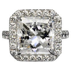 Sky 7 Carat Radiant Cut D Color SI1 Clarity Diamond Engagement Ring '7.07 Carat'