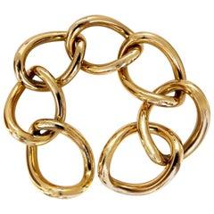 Open Link Wide Bracelet 18 Karat