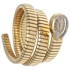 Bulgari Vintage Serpenti Tubogas Gold Watch