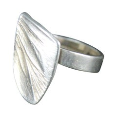 Matti Hyvärinen Turku Finland 1960s Sterling Silver Ring