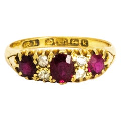 Edwardian Ruby and 18 Carat Gold Ring