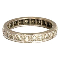 Vintage Diamond 18 Carat White Gold Eternity Band