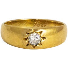Vintage Diamond and 18 Carat Gold Ring