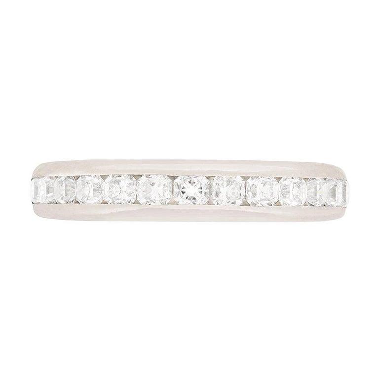 Tiffany & Co. Lucida Cut Diamond Half Eternity Ring For Sale