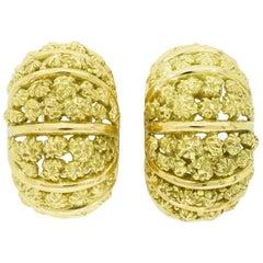 Vintage 18 Karat Tiffany & Co. Clip Earrings