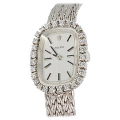 Rolex Ladies Wristwatch 18 Karat white Gold, with Diamonds