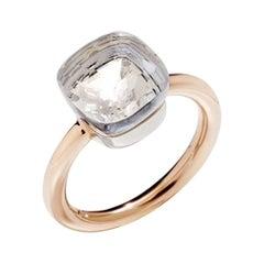 Pomellato Nudo Classic Ring in Rose Gold and White Topaz A.A110-O6-TB