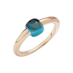 Pomellato Mama Non Mama Ring in Rose Gold with Blue London Topaz A.B004R-O7OY