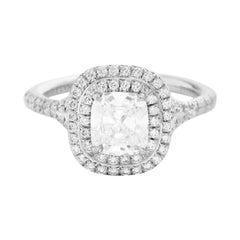 Tiffany & Co. Platinum Soleste 1.5 Carat TW Engagement Ring