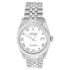 Rolex 16014 Datejust White Roman Dial Watch