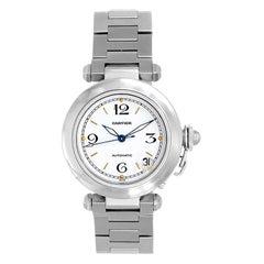 Cartier Stainless Steel Pasha Automatic Wristwatch Ref W31074M7