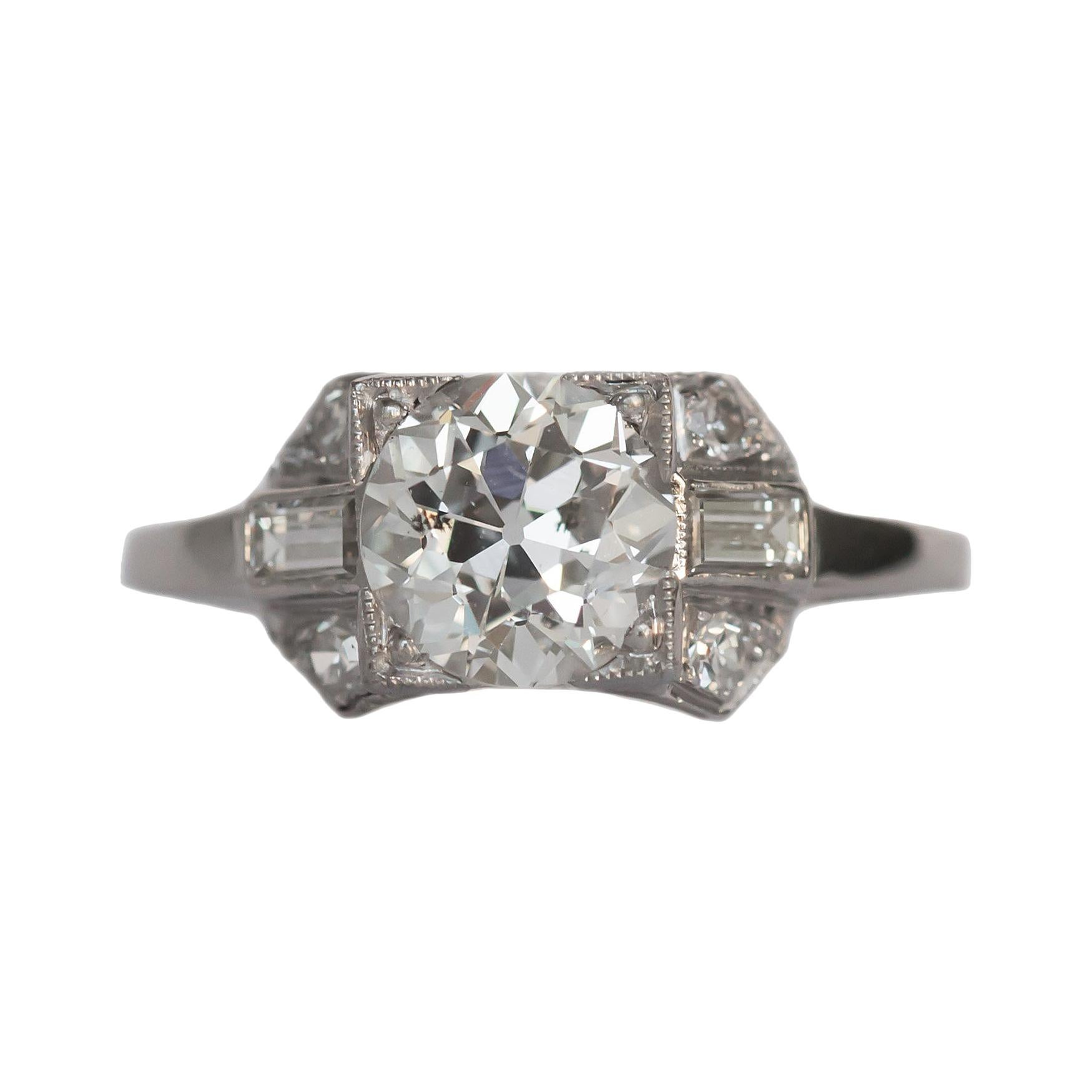 GIA Certified 1.57 Carat Diamond Platinum Engagement Ring