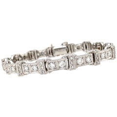 Jabel 18 Karat White Gold 5 Carat Diamond Tennis Bracelet