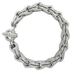 """Dimodolo """"Falko"""" 18 Karat Gold Diamond Men's or Women's Bracelet Total Bling"""