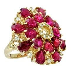 Ruby 12.50 Carat Diamond Cocktail Ring
