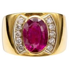 Pink Tourmaline Diamonds 18 Karat Gold Cocktail Ring