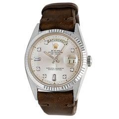 Rolex White Gold Vintage Day-Date President 1803 Wristwatch, circa 1967